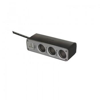 Φορτιστής αυτοκινήτου - 3 Θύρες αναπτήρα-2 Θύρες USB - D08 - 428083