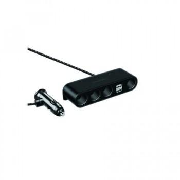 Φορτιστής αυτοκινήτου - 4 Θύρες αναπτήρα-2 Θύρες USB - D09 - 428090