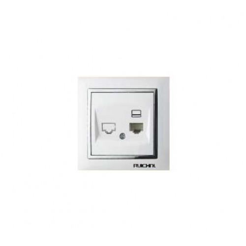 Πρίζα Ethernet - Μονή - White - 068165