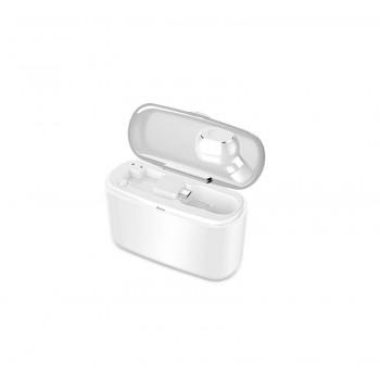 Ασύρματα ακουστικά bluetooth με βάση φόρτισης - M8 Plus - TWS - White